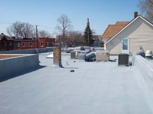 West Roofing Systems installs SPF Roof on Bollinger Funeral Home