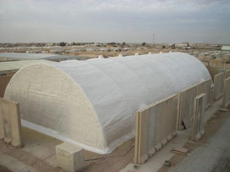 West Roofing Systems installs SPF on Jabala Military Base in Iraq