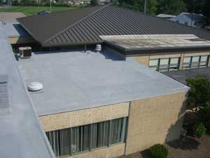 West Roofing Systems installs SPF Roof on school building