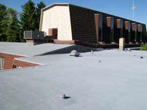 West Roofing Systems installs SPF Roof on Grace Lutheran Church