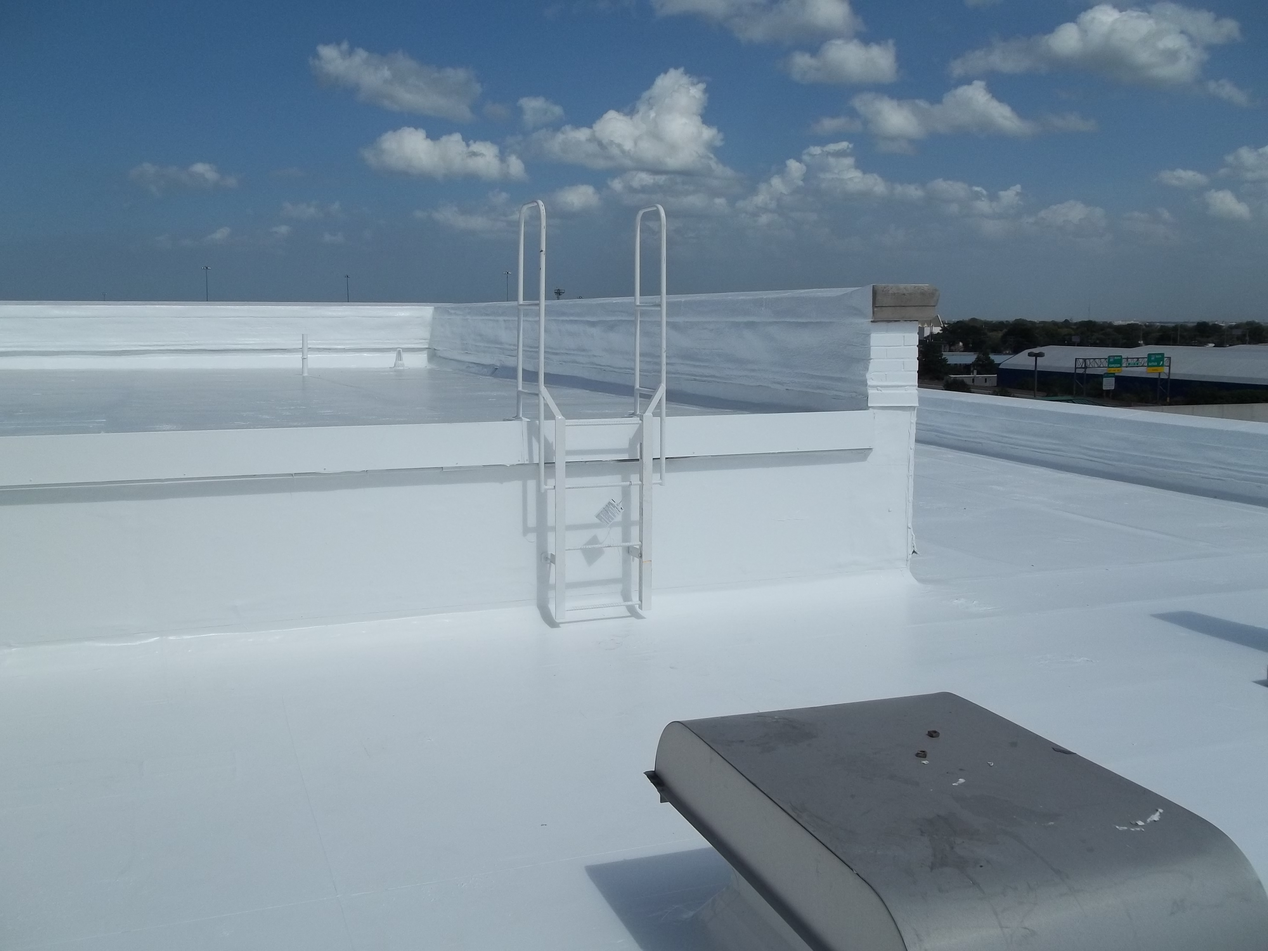 Silicone Restoration Membrane for Commercial Roofs
