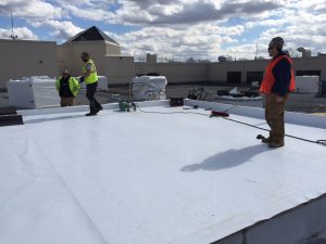 West Roofing Systems installs Single Ply Membrane Roof