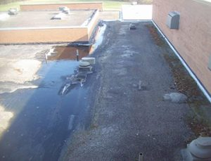 Before West Roofing Systems installs SPF Roofing
