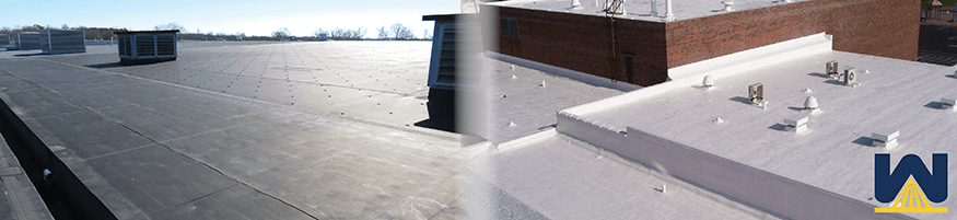 Single Ply Membrane Vs Spray Polyurethane Foam Which Is Best For Commercial Flat Roofs Cleveland Ohio Commercial Roofing Contractor
