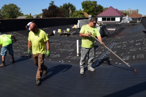 Single-Ply Roof Installation