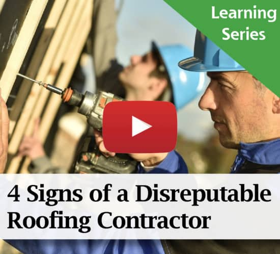 The 4 Signs of a Disreputable Roofing Contractor