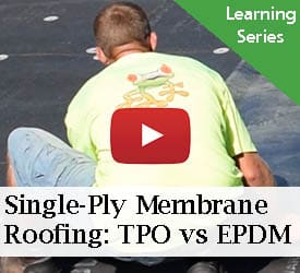 Single-Ply Membrane Roofing: TPO vs EPDM