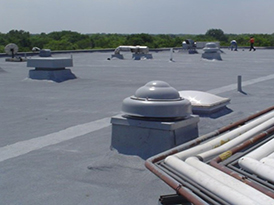 Prairie State College after West Roofing Systems installs new SPF roof