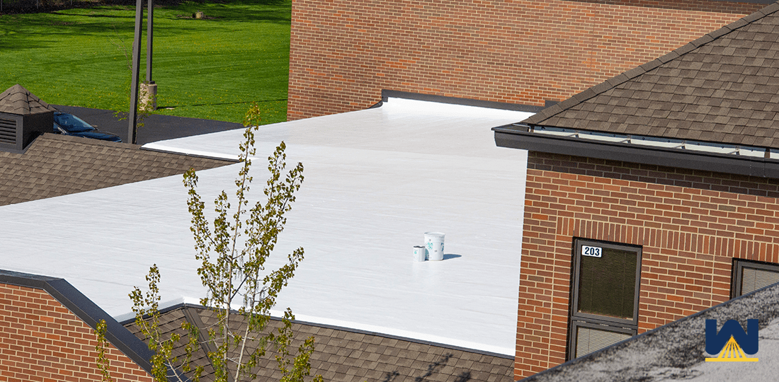 Spf Roof At Lorain School Cleveland Ohio Commercial