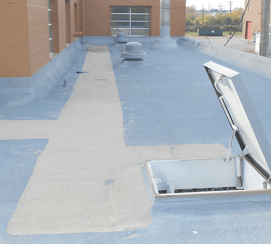 can you walk on a spray foam roof