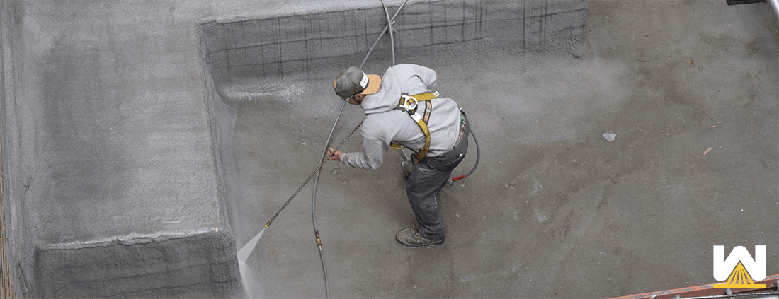 cleaning-a-SPF-roof-with-powerwashing