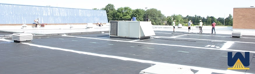 How does an SRM roofing solution restore a rubber roof