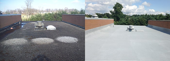 old spray foam roof vs new spray foam roof