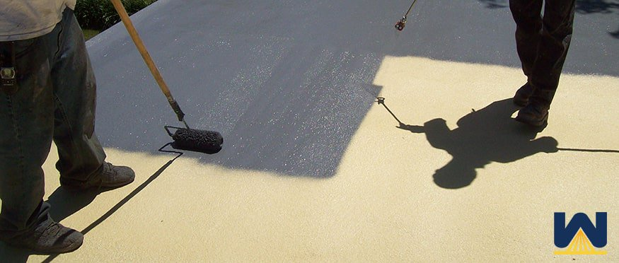 Weakness of spray foam roofing - protection from UV rays