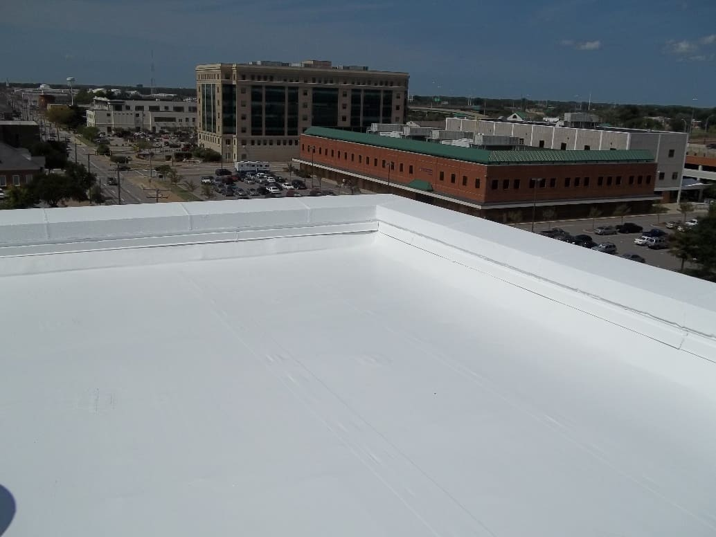 Roof restored with Silicone Coating