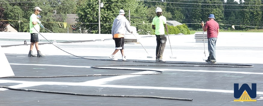 elastomeric roof coating installation
