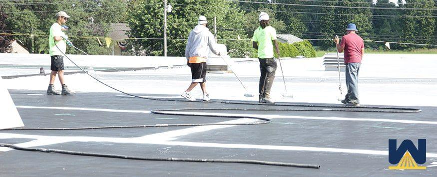 elastomeric roof coating installation