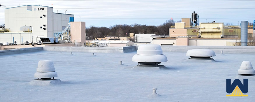 spray foam roof over a climate controlled building