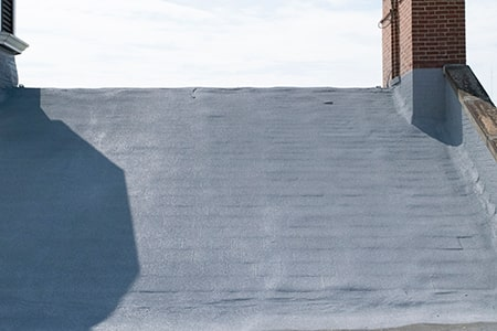 spray foam roof over a residential house