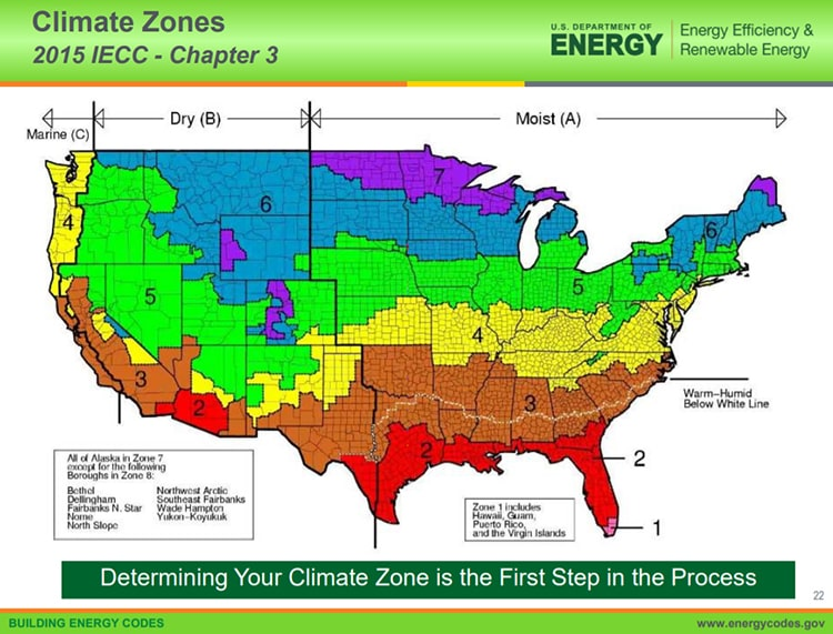 climate zones for r-value