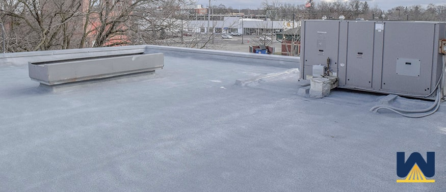 spray foam roof on an apartment complex