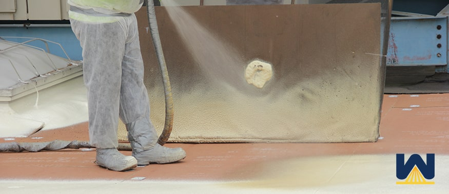 what commercial roofing systems can spray foam be installed over
