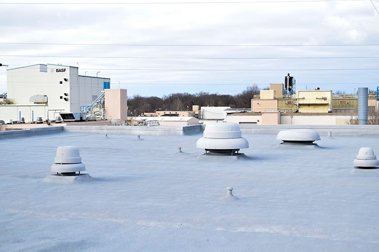 Elyria Fire Station - finished spray foam roof