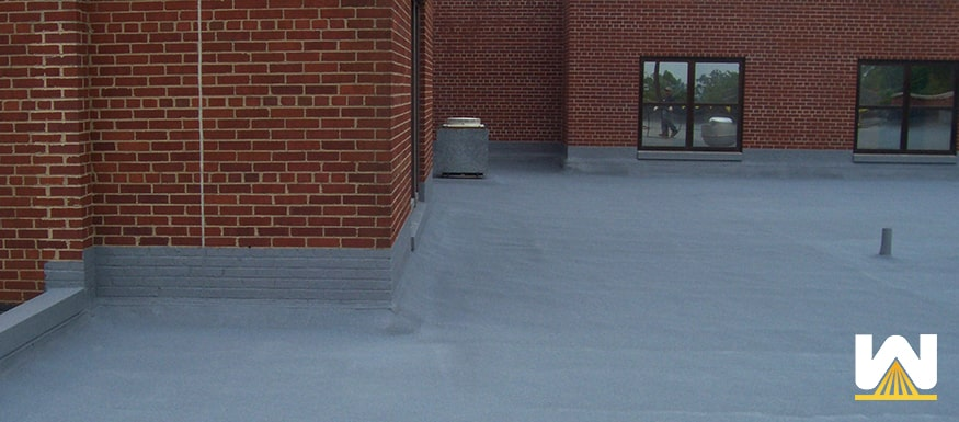 finished spray foam roof