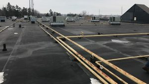 commercial roof with many penetrations