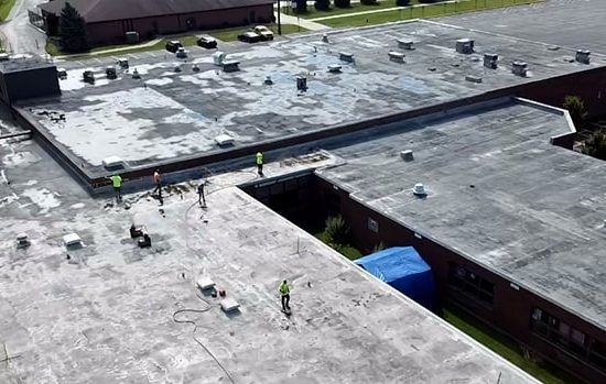 spray foam over a leaking commercial roof