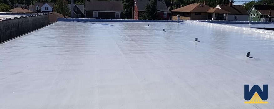 Can you install silicone coating over a roof with fractures, holes or cracks