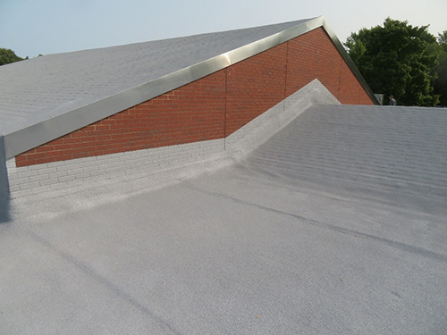 Spray foam on a EPDM roof