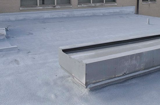 completed spray foam roofing system