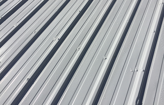 silicone coating over metal roof - fasteners and seams