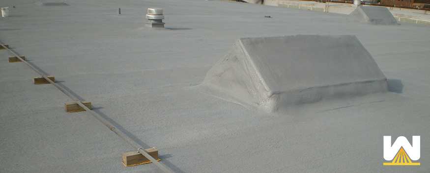 recoat of a spray foam roof - featured image