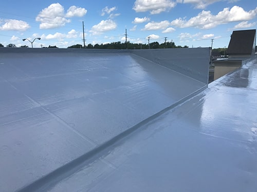 roof coatings on a facade