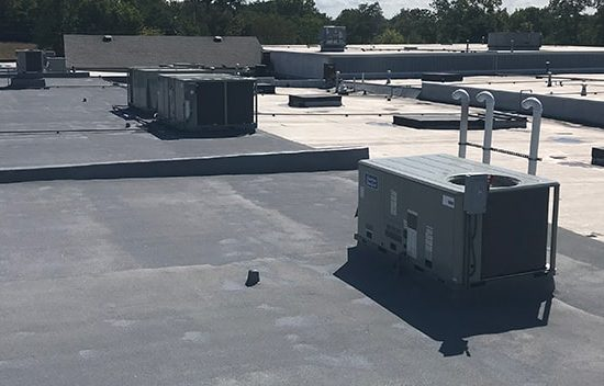 roofing system on a property management building