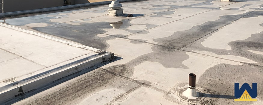 Tear in a TPO roof