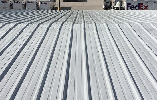 completed silicone roof system