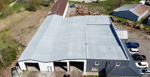 spray foam roof on commercial building