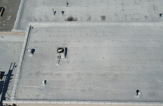 photo of spray polyurethane foam roof at Nu Di in Cleveland, Ohio - 2021
