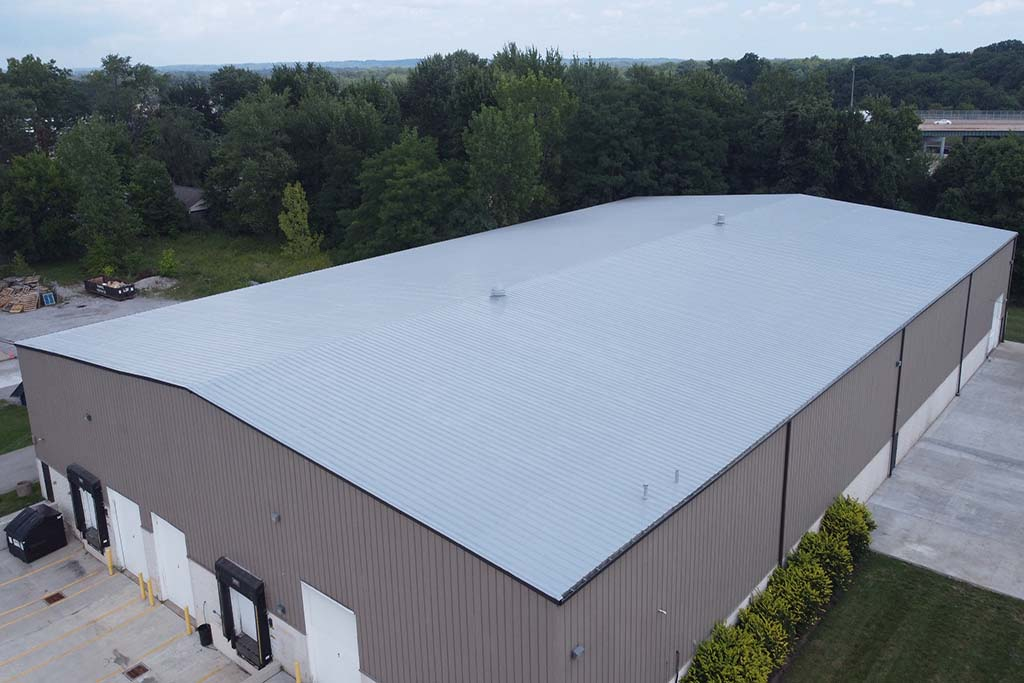 Silicone Roof Coating System at Schill - Bedford, Ohio - 2021.JPG