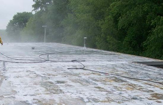 spray foam roof with some issues and problems