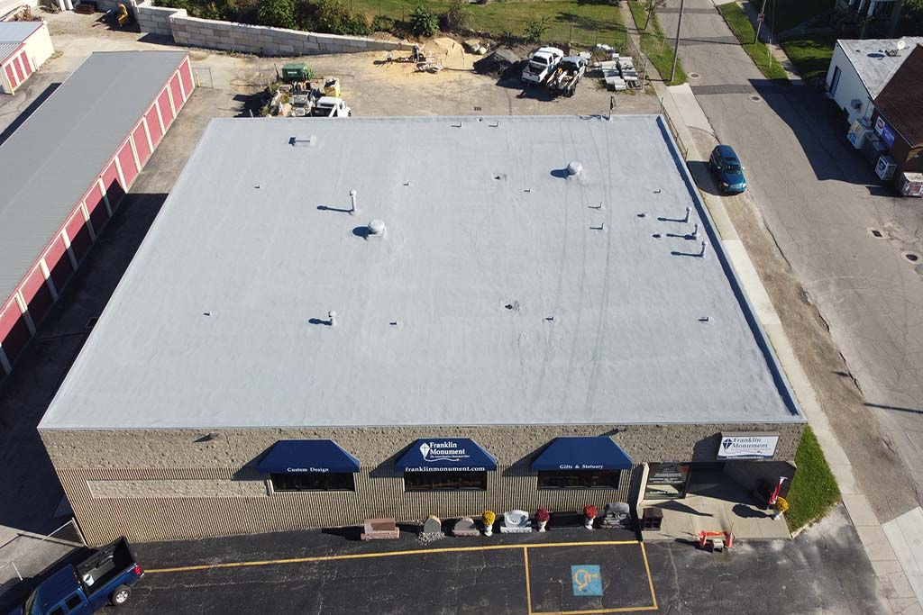 Finished Spray Foam Roof at Franklin Monument - Norwalk, OH - 2021.JPG