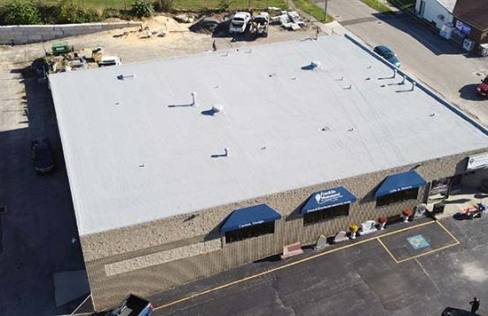 drone footage of a completed spray foam roof.JPG